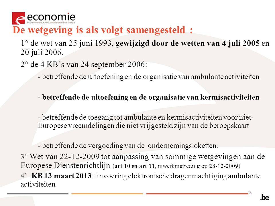 2 1° de wet van 25 juni 1993, gewijzigd door de wetten van 4 juli 2005 en 20 juli 2006.