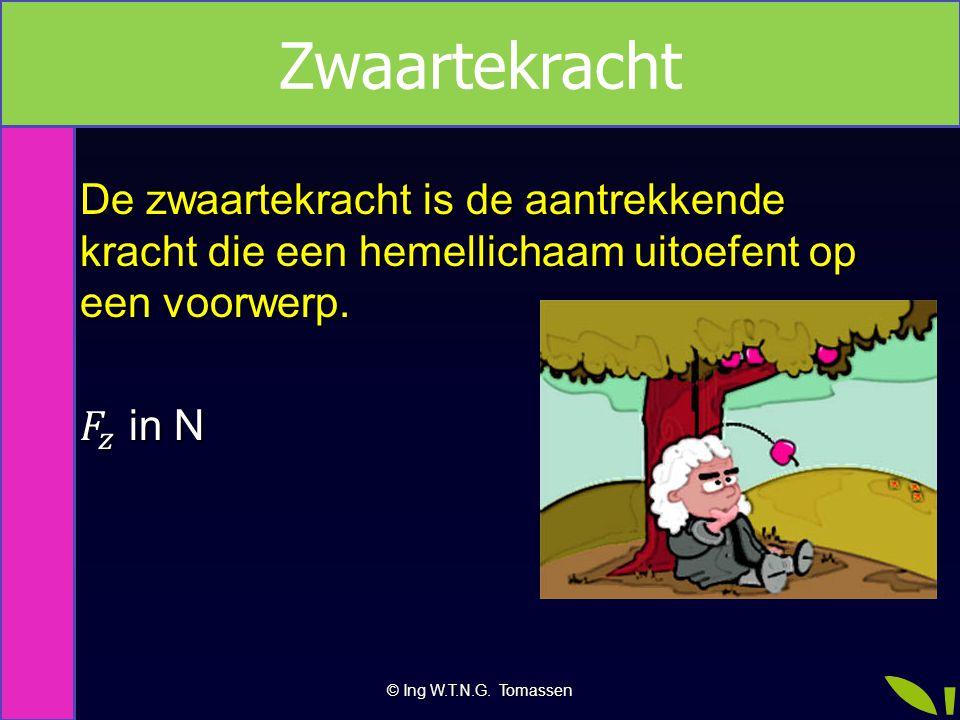 © Ing W.T.N.G. Tomassen Zwaartekracht