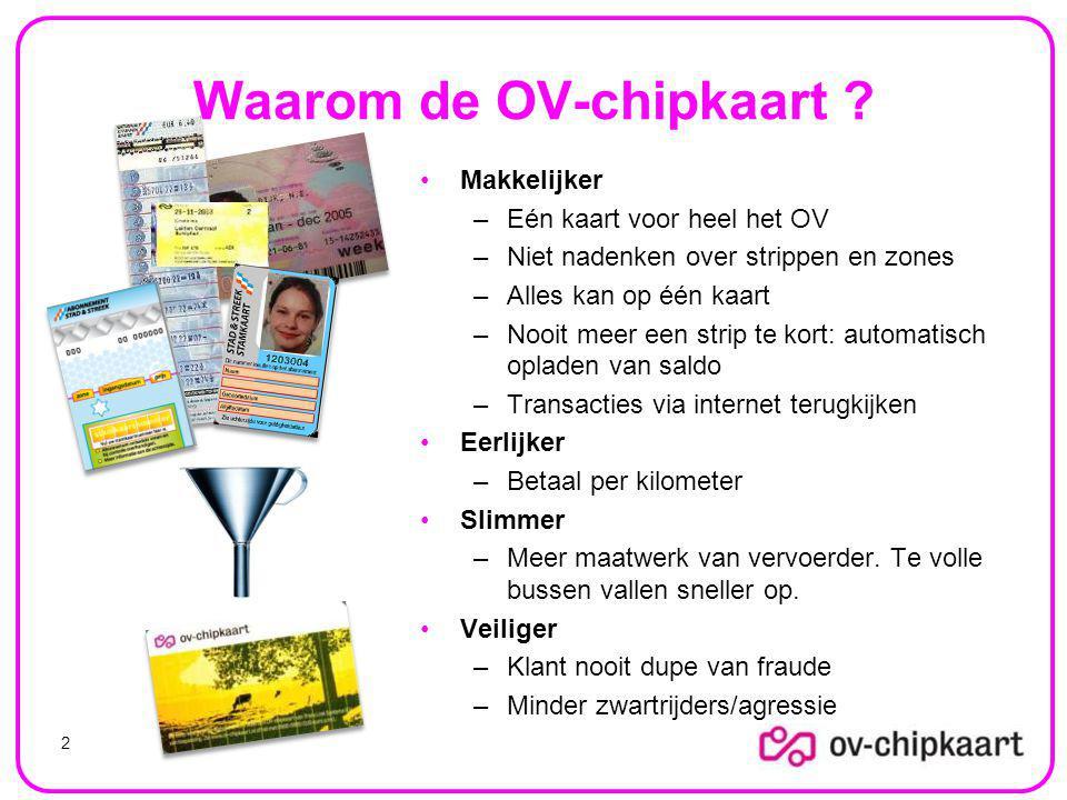Waarom de OV-chipkaart .