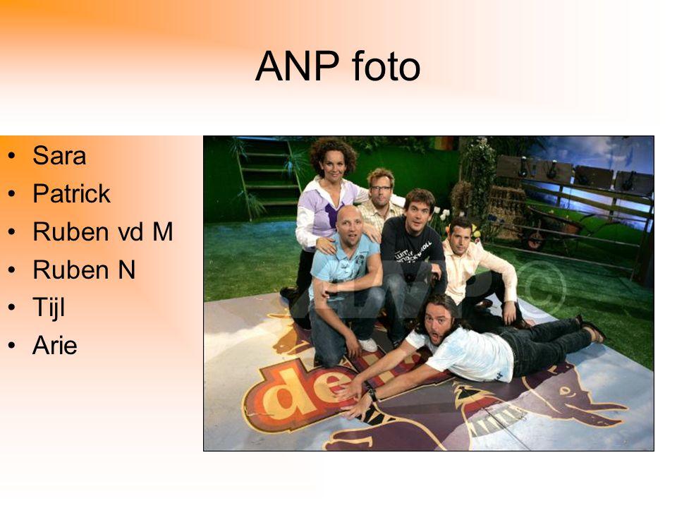 ANP foto Sara Patrick Ruben vd M Ruben N Tijl Arie