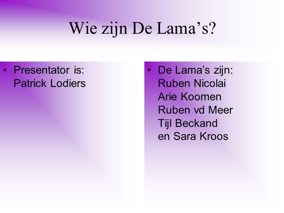 Wie zijn De Lama's.