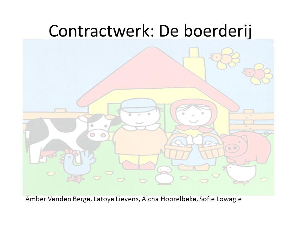 Contractwerk: De boerderij Amber Vanden Berge, Latoya Lievens, Aicha Hoorelbeke, Sofie Lowagie