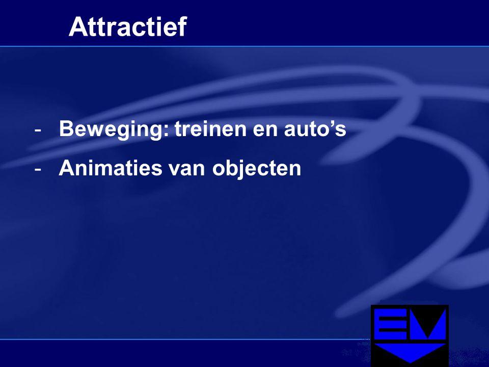 Attractief -Beweging: treinen en auto's -Animaties van objecten