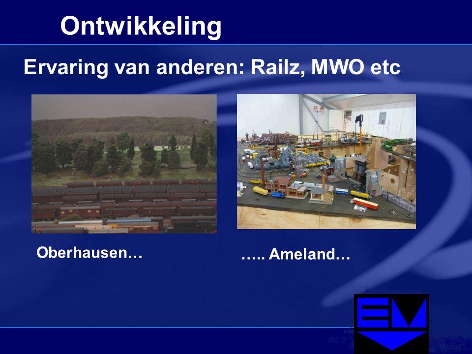 Ontwikkeling Ervaring van anderen: Railz, MWO etc Oberhausen… ….. Ameland…