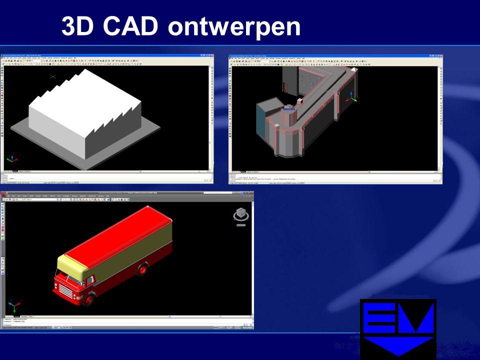 3D CAD ontwerpen