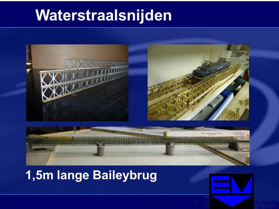Waterstraalsnijden 1,5m lange Baileybrug