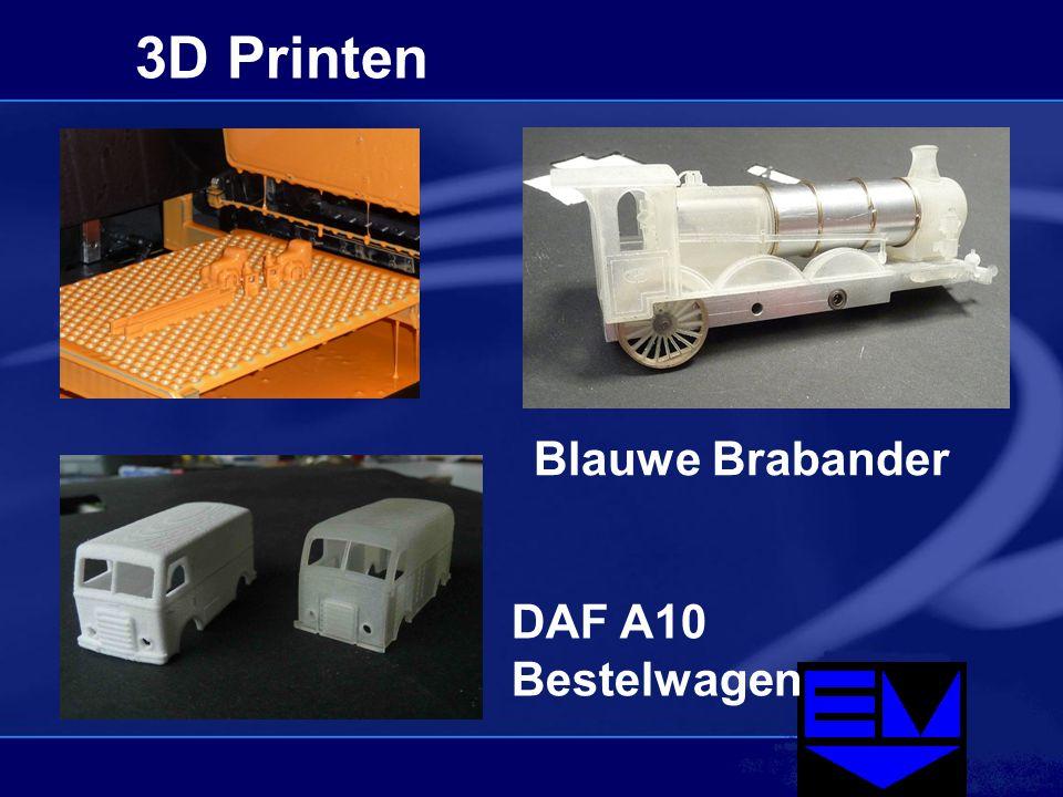3D Printen Blauwe Brabander DAF A10 Bestelwagen