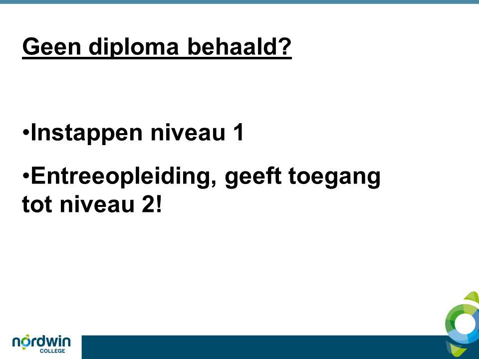 Toelatingseisen Middelbaar beroeps onderwijs (MBO) Niveau 1, 2, 3, 4 4 (KL) GL TL 3 KL 2 BL 1 BBL