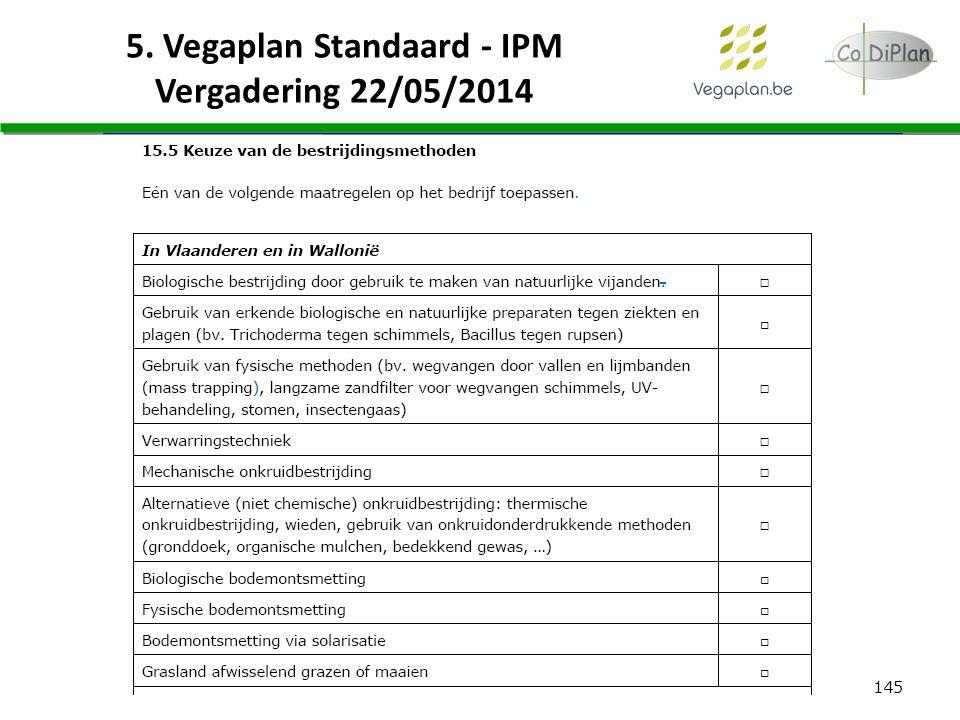 145 5. Vegaplan Standaard - IPM Vergadering 22/05/2014