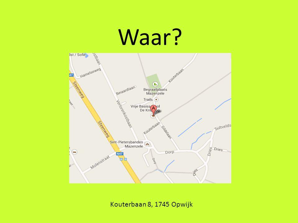 Waar? Kouterbaan 8, 1745 Opwijk
