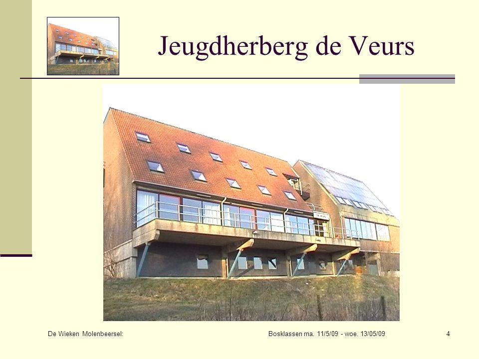De Wieken Molenbeersel: Bosklassen ma. 11/5/09 - woe. 13/05/094 Jeugdherberg de Veurs