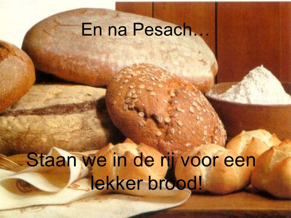En na Pesach… Staan we in de rij voor een lekker brood!