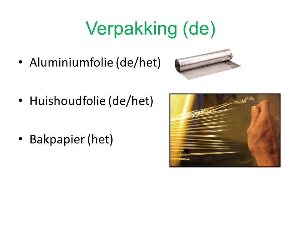 Aluminiumfolie (de/het) Huishoudfolie (de/het) Bakpapier (het)