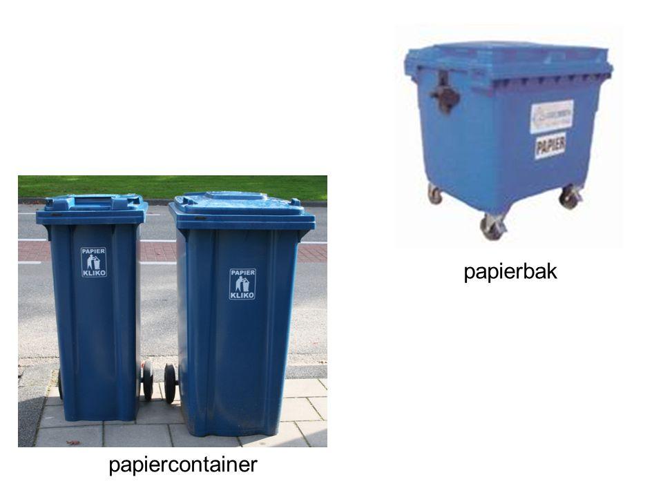 papierbak papiercontainer