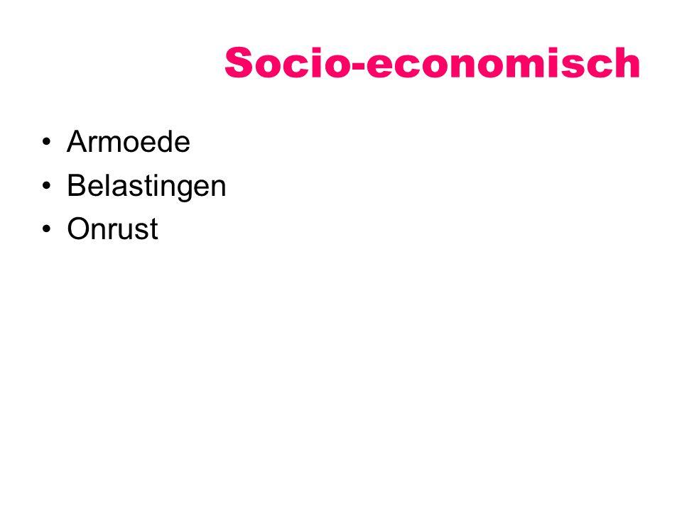 Socio-economisch Armoede Belastingen Onrust