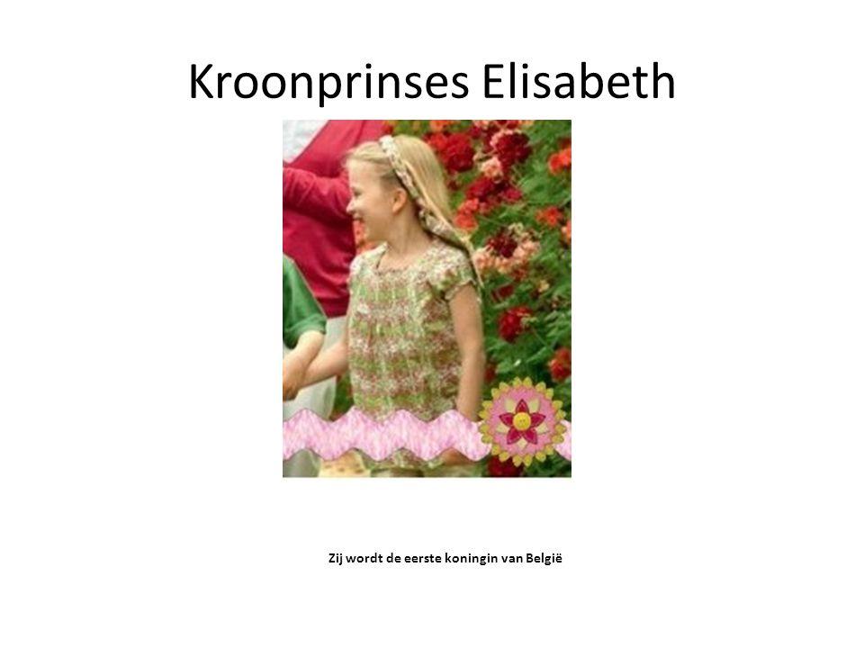 Kroonprinses Elisabeth Zij wordt de eerste koningin van België