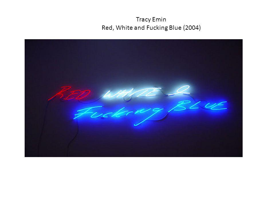 Tracy Emin Red, White and Fucking Blue (2004)‏