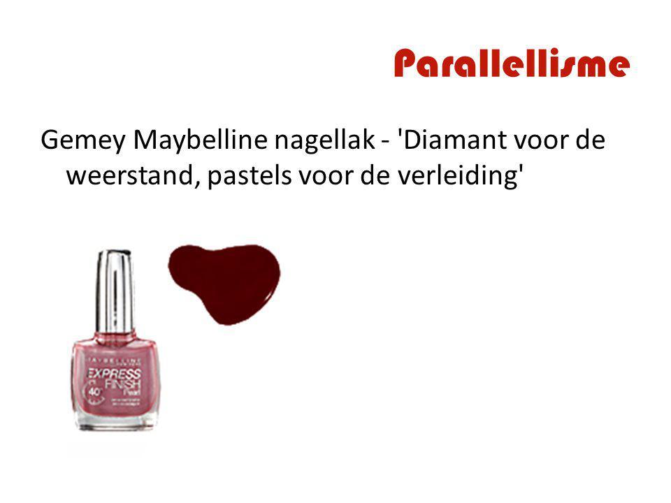 Parallellisme Gemey Maybelline nagellak - 'Diamant voor de weerstand, pastels voor de verleiding'