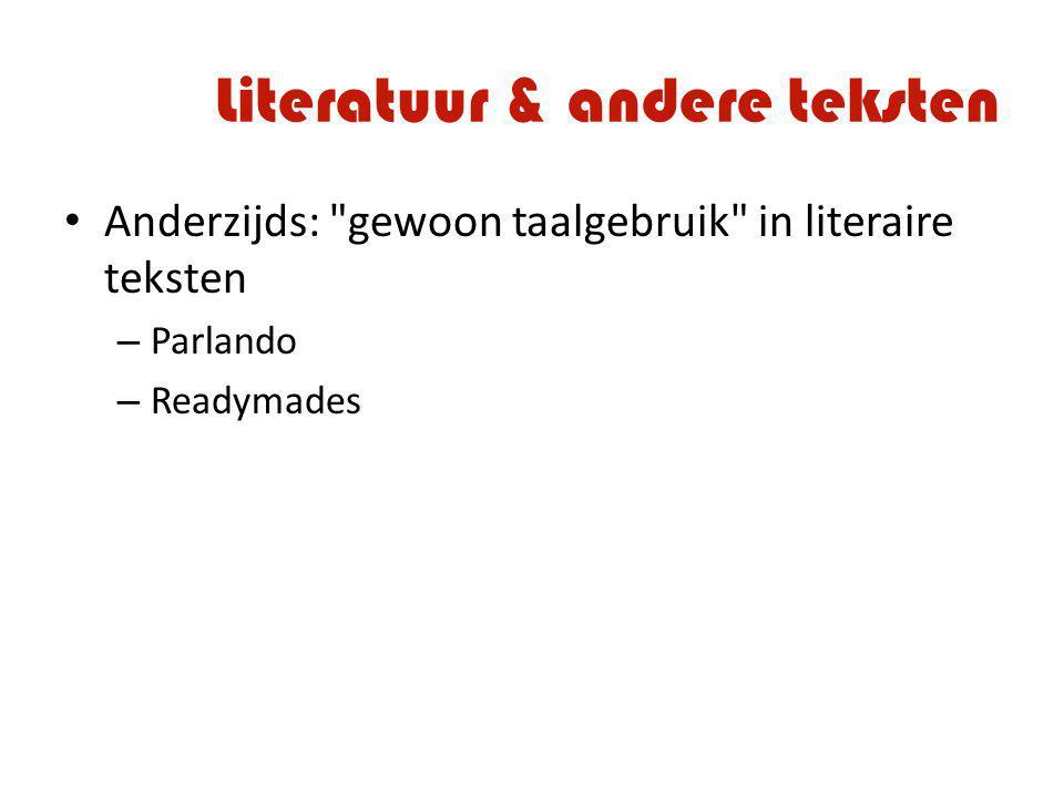 Literatuur & andere teksten Anderzijds: