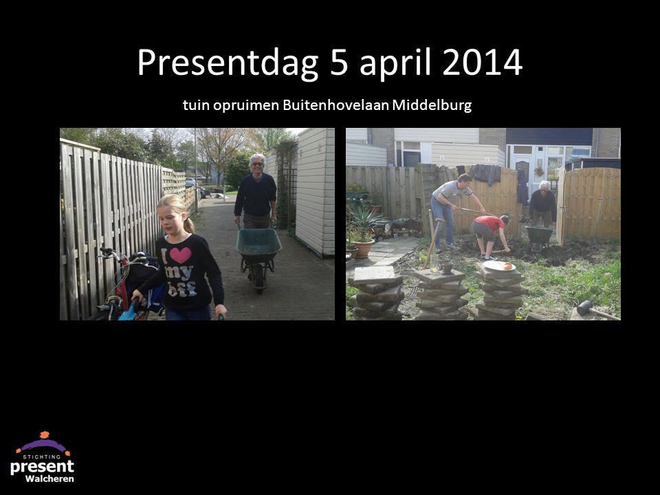Presentdag 5 april 2014 tuin opruimen Buitenhovelaan Middelburg