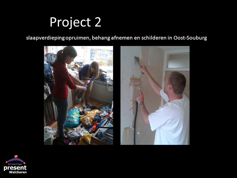 slaapverdieping opruimen, behang afnemen en schilderen in Oost-Souburg Project 2
