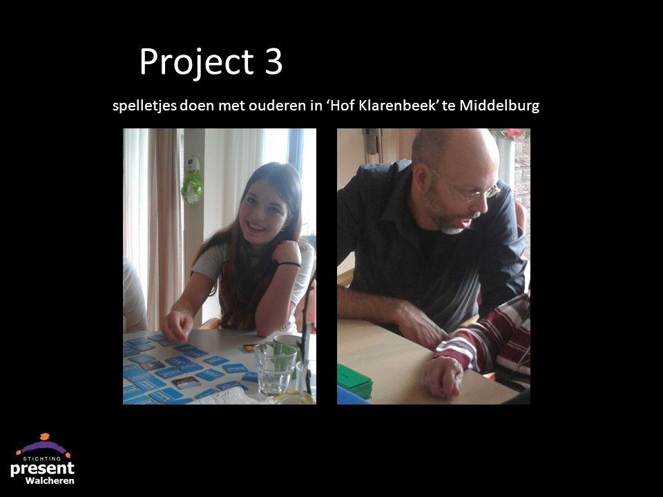 spelletjes doen met ouderen in 'Hof Klarenbeek' te Middelburg Project 3