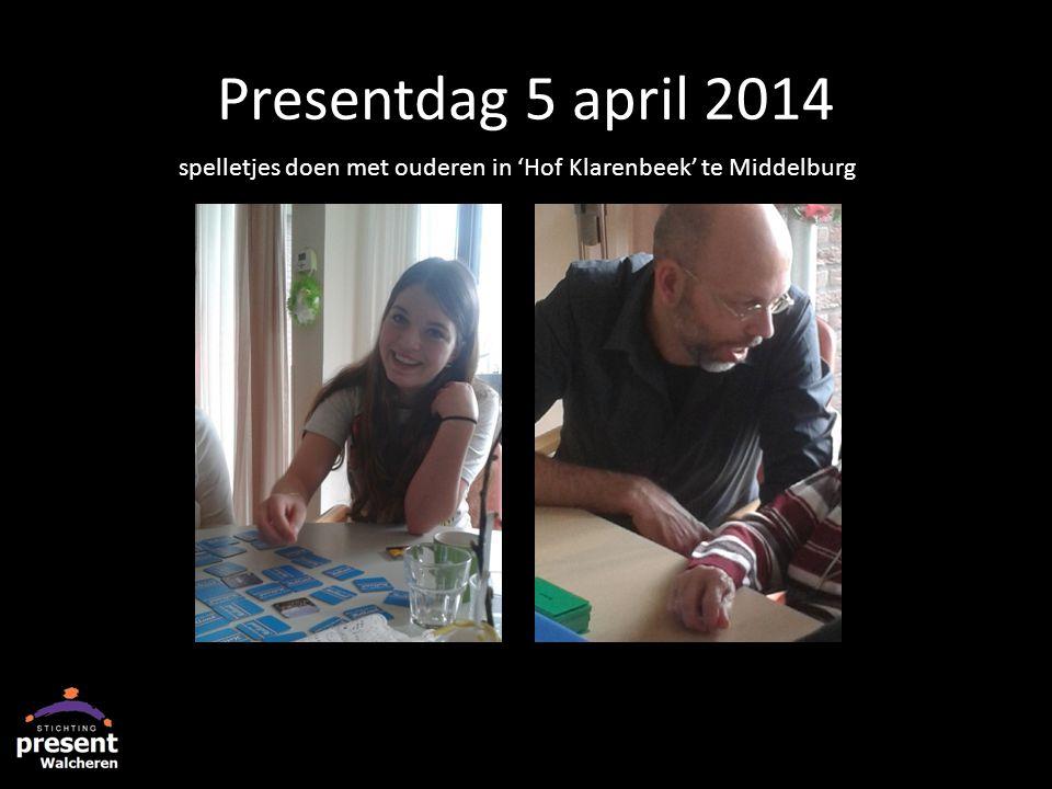 Presentdag 5 april 2014 spelletjes doen met ouderen in 'Hof Klarenbeek' te Middelburg