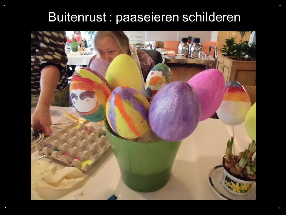 .... Foto's Present Buitenrust : paaseieren schilderen