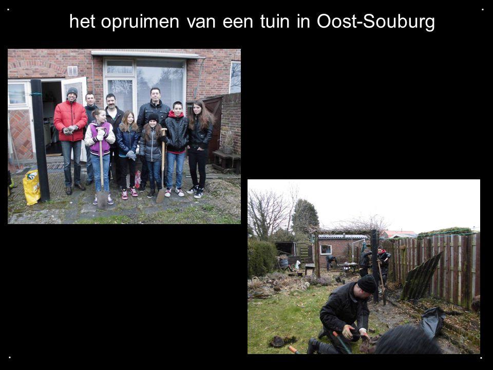 .... het opruimen van een tuin in Oost-Souburg