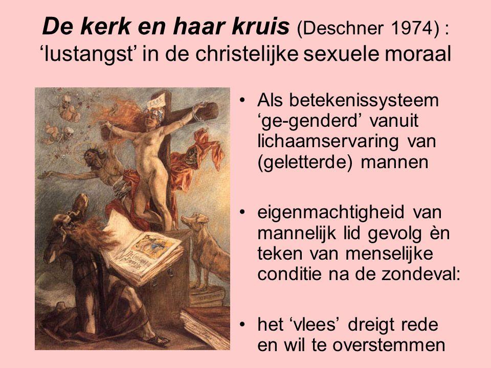 Ongebonden seks als (anti-)symbool Heterodoxe bewegingen vaak verdacht van vrije seks Verdenking van vrije seks als 'verdrongene' van orthodoxie Vanaf jaren 60 vrije seks omarmd als anti- symbool: symbool van anti-burgerlijke vrijheid Nu symbool van westerse consumenten-vrijheid: vrijheid om ons genot na te jagen ('sex sells')