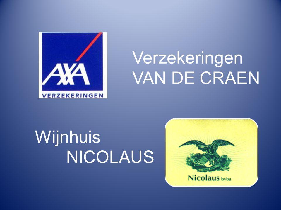 Verzekeringen VAN DE CRAEN Wijnhuis NICOLAUS