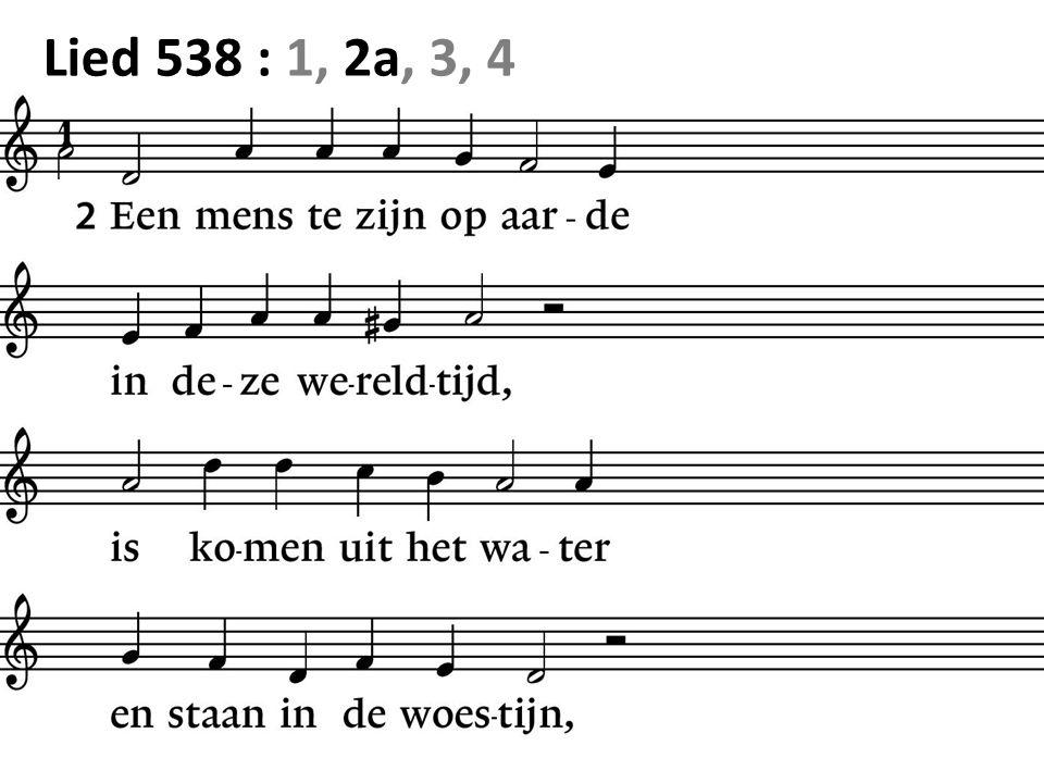 Lied 538 : 1, 2a, 3, 4