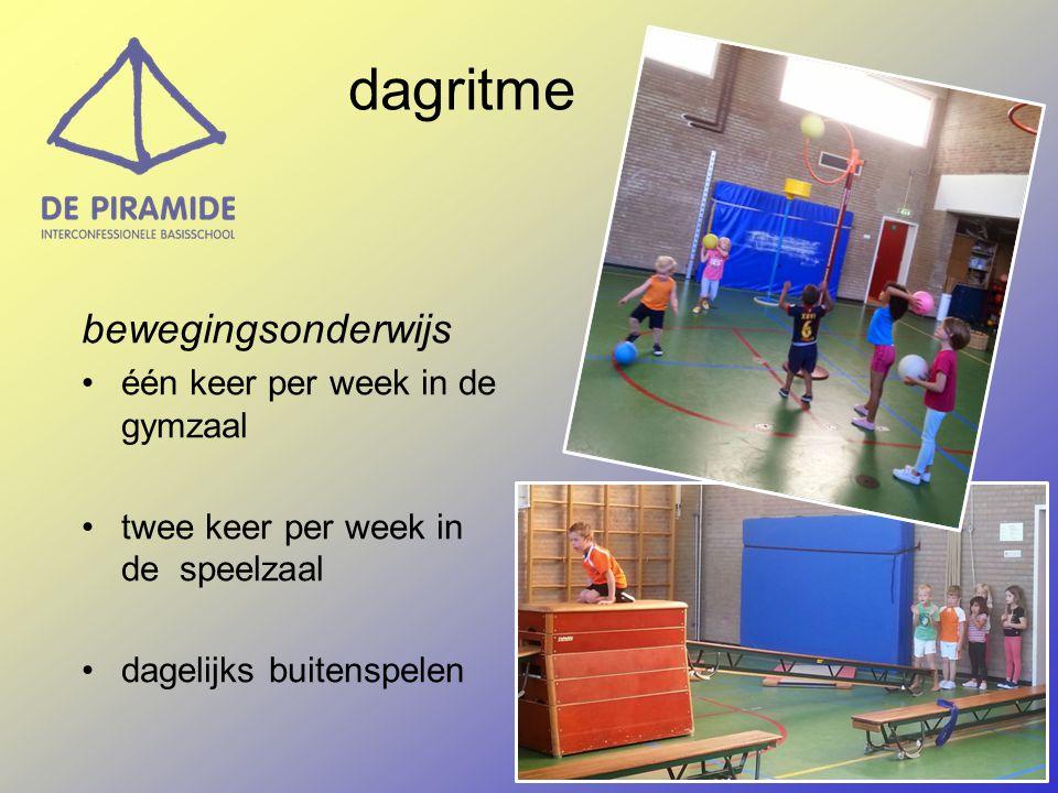 bewegingsonderwijs één keer per week in de gymzaal twee keer per week in de speelzaal dagelijks buitenspelen dagritme