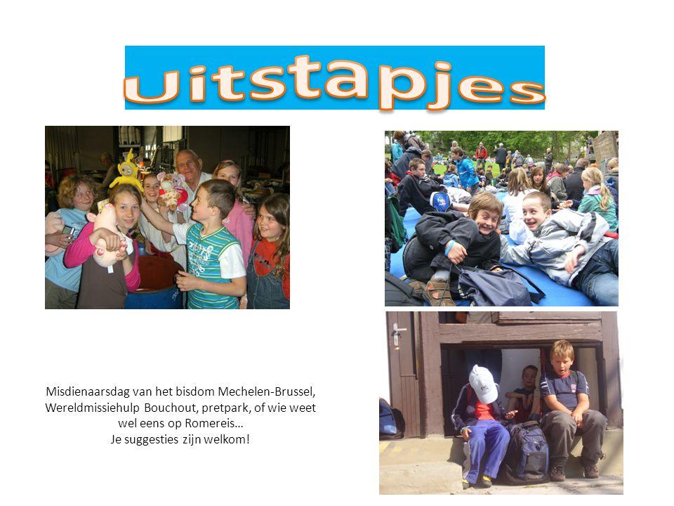 Misdienaarsdag van het bisdom Mechelen-Brussel, Wereldmissiehulp Bouchout, pretpark, of wie weet wel eens op Romereis… Je suggesties zijn welkom!