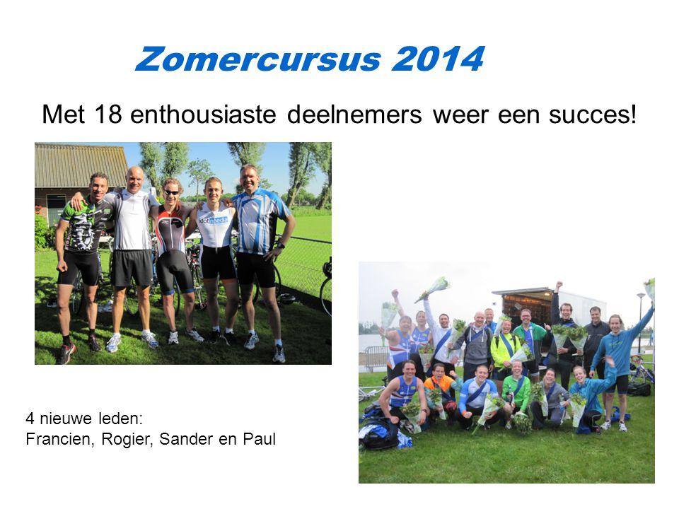 Zomercursus 2014 Met 18 enthousiaste deelnemers weer een succes.