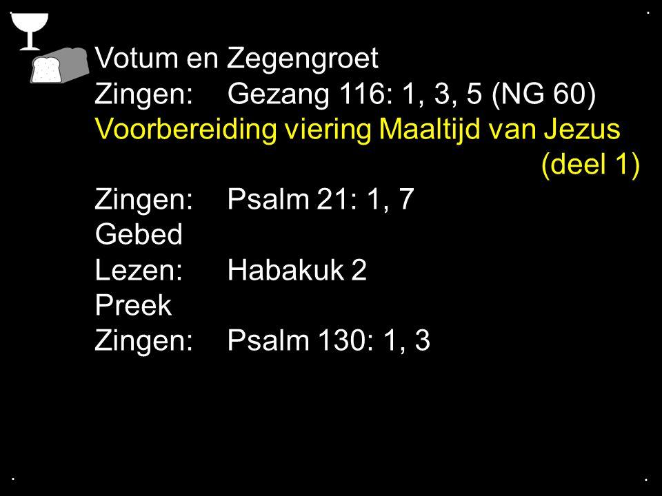 .... COLLECTE Vandaag Is de collecte voor de Kerk Na de collecte zingen we: Gezang 113: 1, 2