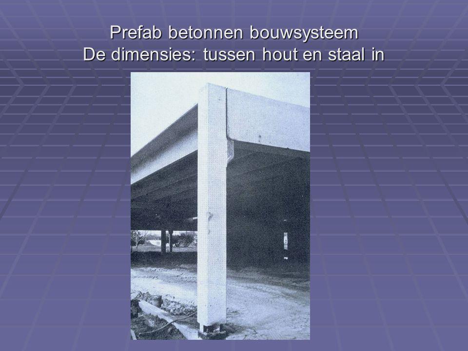 Prefab betonnen bouwsysteem De dimensies: tussen hout en staal in