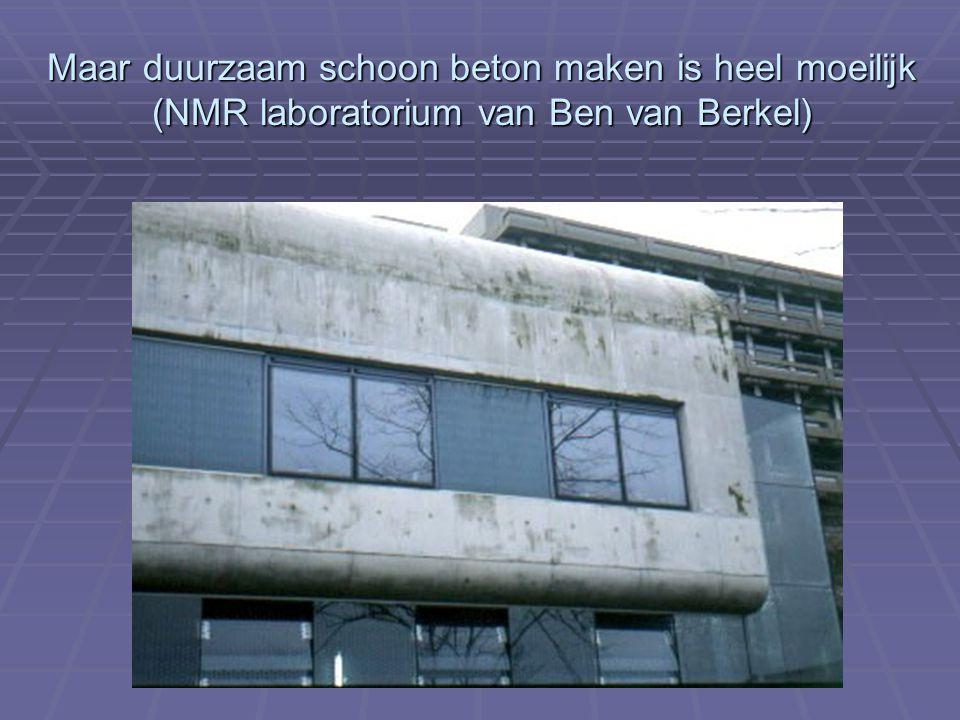 Maar duurzaam schoon beton maken is heel moeilijk (NMR laboratorium van Ben van Berkel)