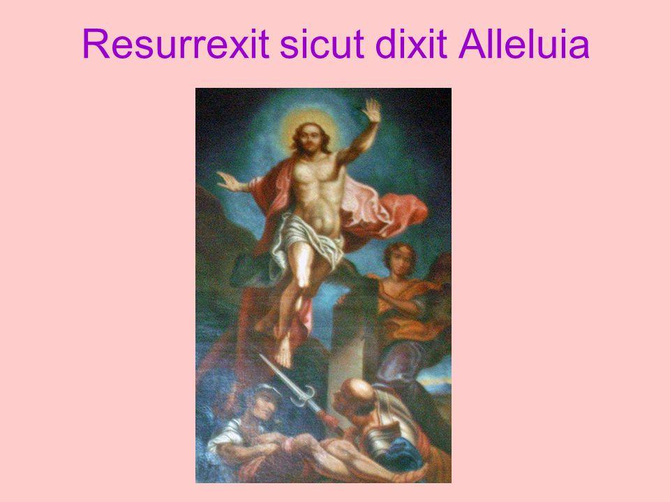 Resurrexit sicut dixit Alleluia