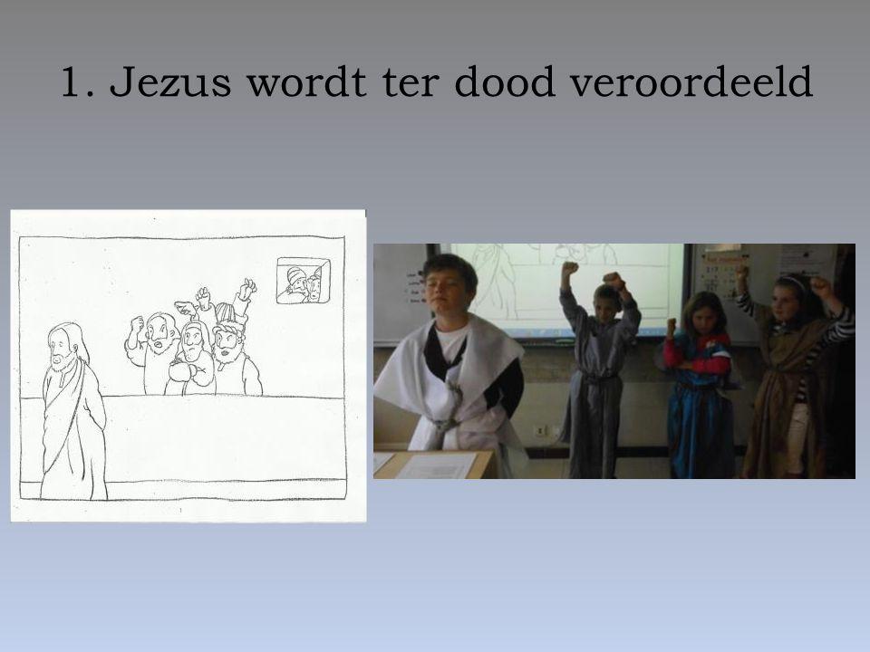 2. Jezus neemt het kruis op zijn schouders