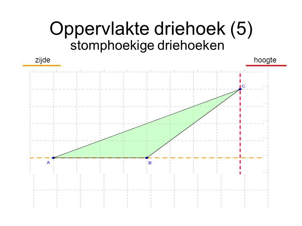 Oppervlakte driehoek (5) stomphoekige driehoeken hoogtezijde