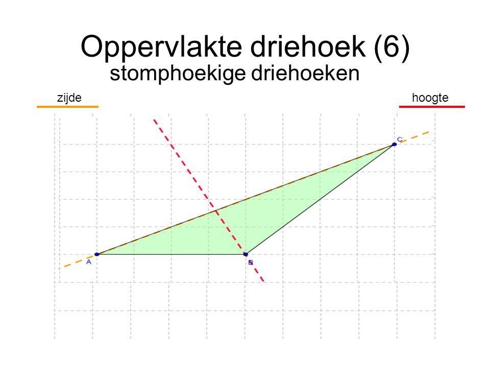 Oppervlakte driehoek (6) stomphoekige driehoeken hoogtezijde