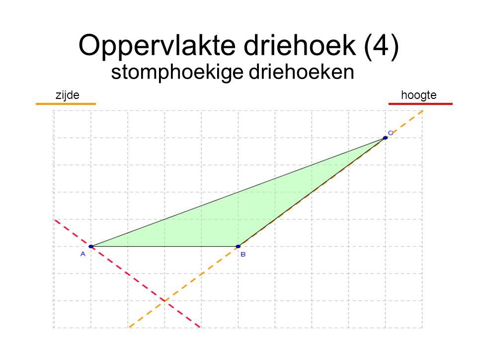 Oppervlakte driehoek (4) stomphoekige driehoeken hoogtezijde