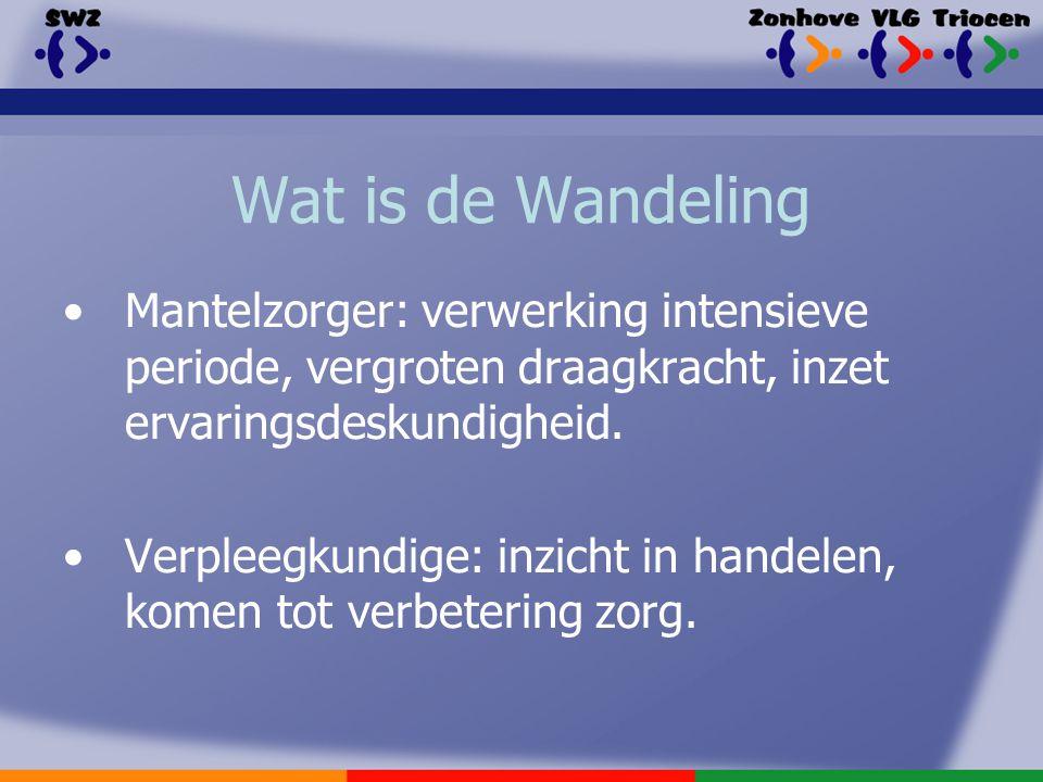 Wat is de Wandeling Mantelzorger: verwerking intensieve periode, vergroten draagkracht, inzet ervaringsdeskundigheid.