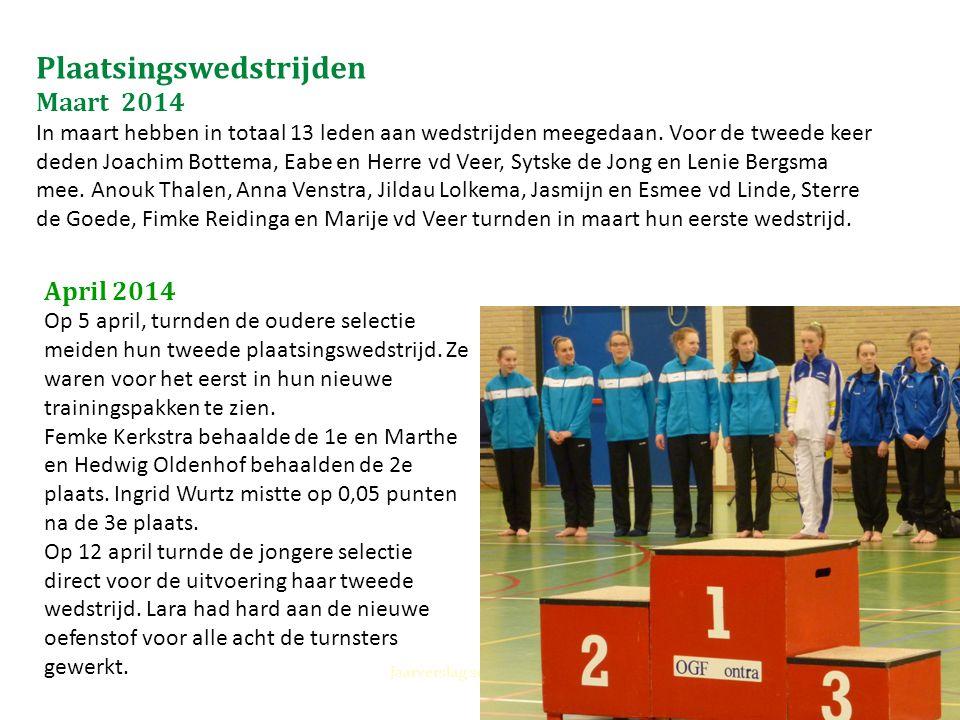 Plaatsingswedstrijden Maart 2014 In maart hebben in totaal 13 leden aan wedstrijden meegedaan. Voor de tweede keer deden Joachim Bottema, Eabe en Herr
