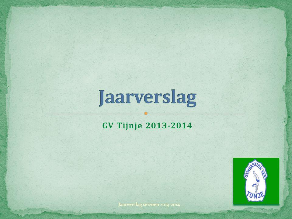 GV Tijnje 2013-2014 Jaarverslag seizoen 2013-2014