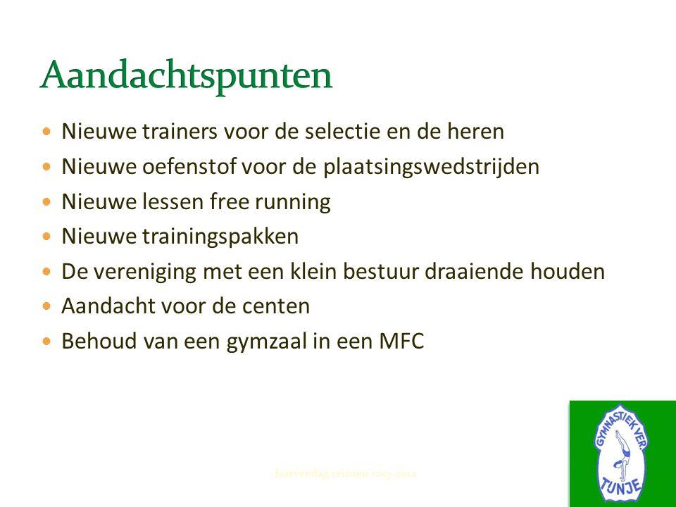 November 2013 Jaarverslag seizoen 2013-2014 Afscheid van Jan Schuurman Met Lara Valkman vinden we een geweldige opvolger voor de selectie meiden.