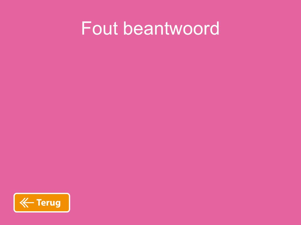 Fout beantwoord