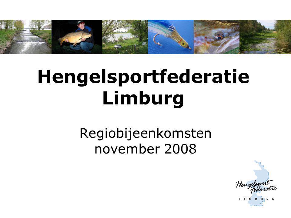 Hengelsportfederatie Limburg Regiobijeenkomsten november 2008