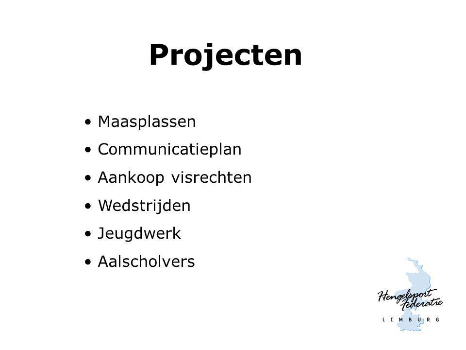 Projecten Maasplassen Communicatieplan Aankoop visrechten Wedstrijden Jeugdwerk Aalscholvers